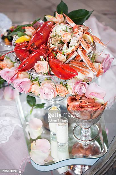 Seafood on table