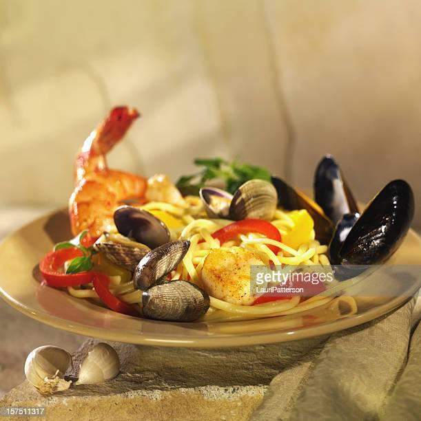 Fruits de mer et pâtes