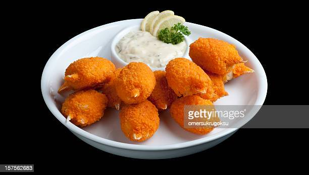 seafood - breaded stock photos and pictures