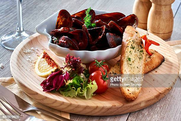 seafood - mussel stock pictures, royalty-free photos & images