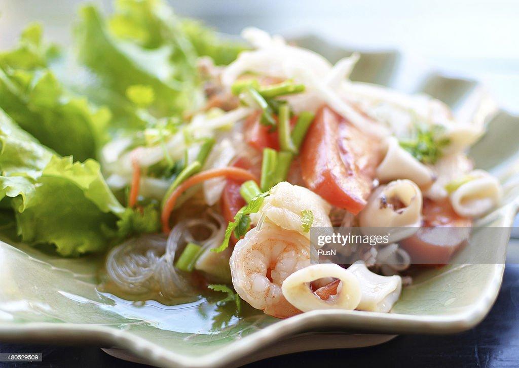 seafood salad : Stock Photo