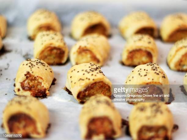 seafood sausage rolls - gregoria gregoriou crowe fine art and creative photography. stockfoto's en -beelden