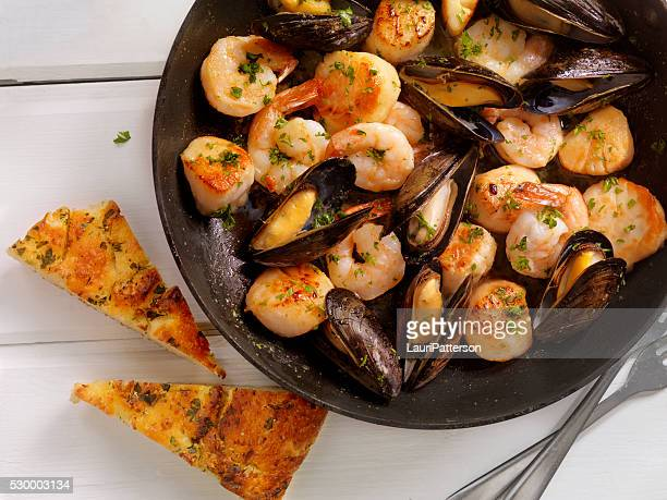 Seafood Scampi in a Butter and White Wine Sauce