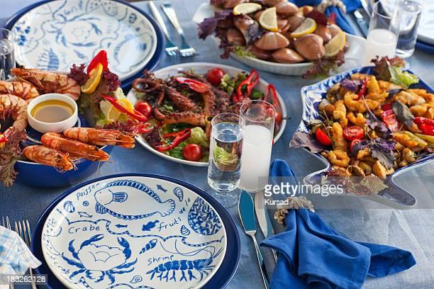 Meeresfrüchte-Tisch