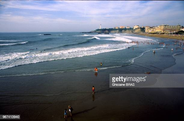Seafront and beach Pyrenees Atlantique on July 19 2010 in Biarritz France