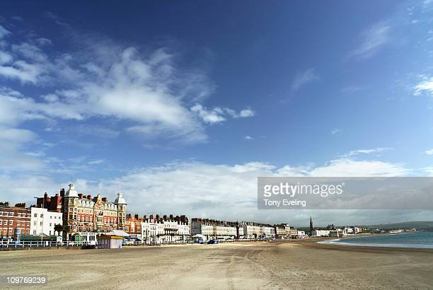 Seafront at Weymouth, Dorset, England, UK