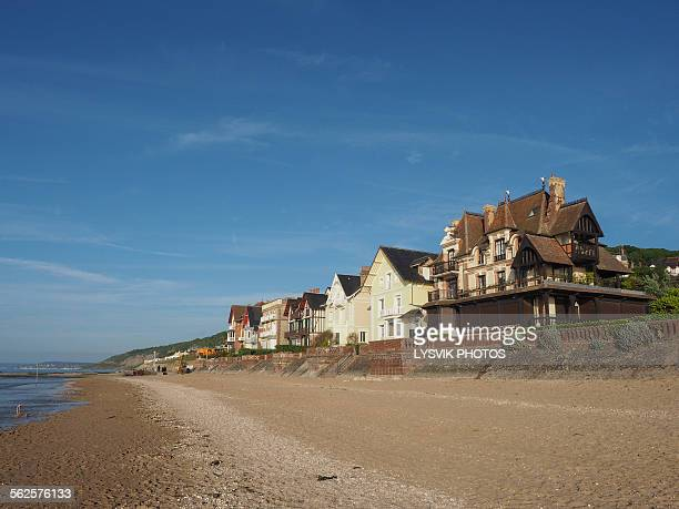 Seafront Houlgate with beach and villas