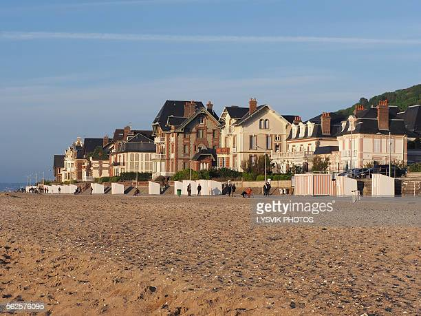 Seafront Houlgate with beach, promenade and villas