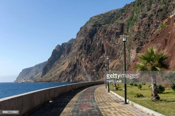 Seafront promenade, Jardim do Mar, Madeira, Portugal
