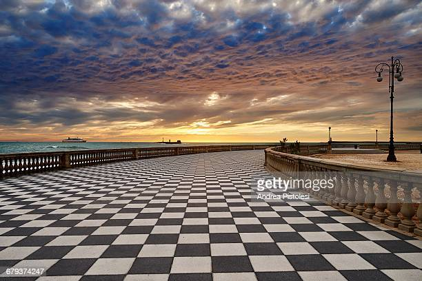 seafront terrazza mascagni in livorno, italy - livorno stock pictures, royalty-free photos & images