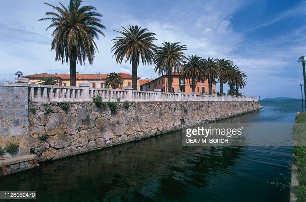 Seafront walls of Orbetello, Tuscany, Italy.