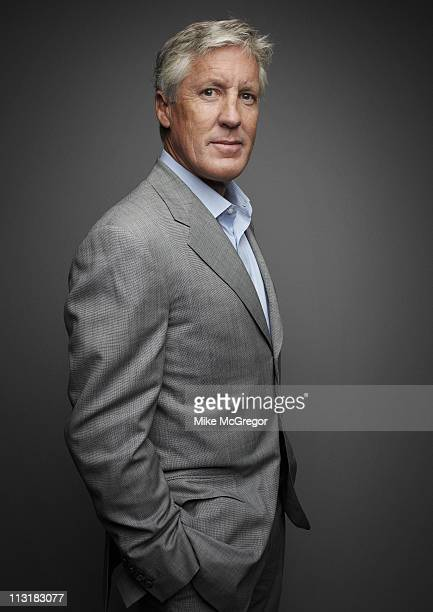 Seahawks coach Pete Carroll is photographed for Bloomberg Businessweek on July 12, 2010 in New York City.