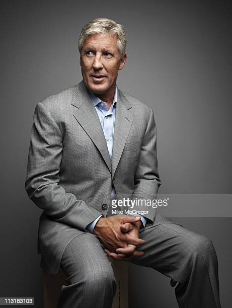 Seahawks coach Pete Carroll is photographed for Bloomberg Businessweek on July 12, 2010 in New York City. Published Image.