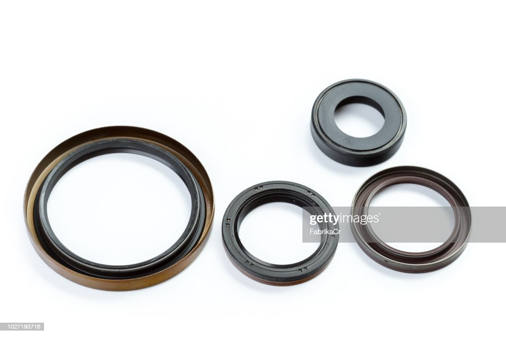 seal and camshaft crankshaft car on a white background : Stock Photo