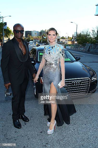 Seal and Heidi Klum arrives at Audi Arrivals At The Elton John AIDS Foundation Oscars Viewing Party at Pacific Design Center on February 27 2011 in...