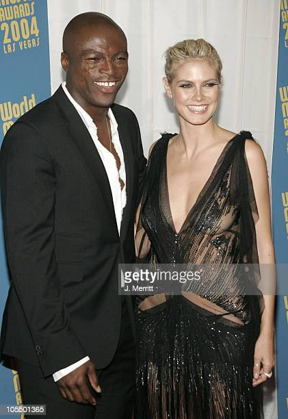 Seal and Heidi Klum during 2004 World Music Awards Arrivals at The Thomas and Mack Center in Las Vegas Nevada United States