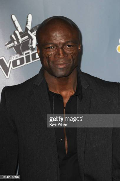 Seal arrives at the screening of NBC's 'The Voice' Season 4 at TCL Chinese Theatre on March 20 2013 in Hollywood California
