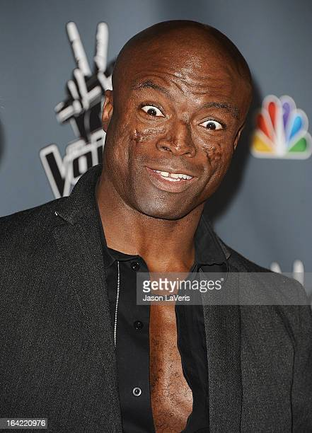 Seal attends NBC's The Voice season 4 premiere at TCL Chinese Theatre on March 20 2013 in Hollywood California