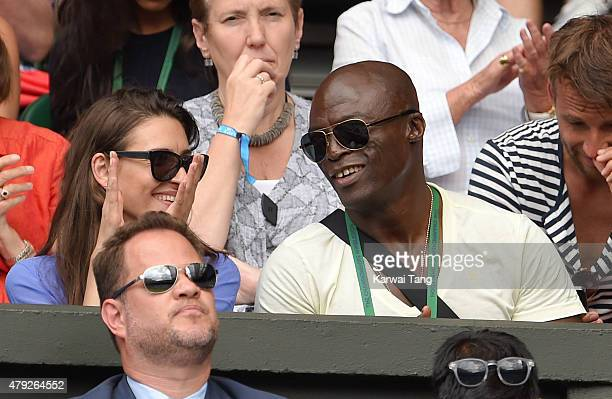 Seal attends the Dustin Brown v Rafael Nadal match on day four of the Wimbledon Tennis Championships at Wimbledon on July 2 2015 in London England