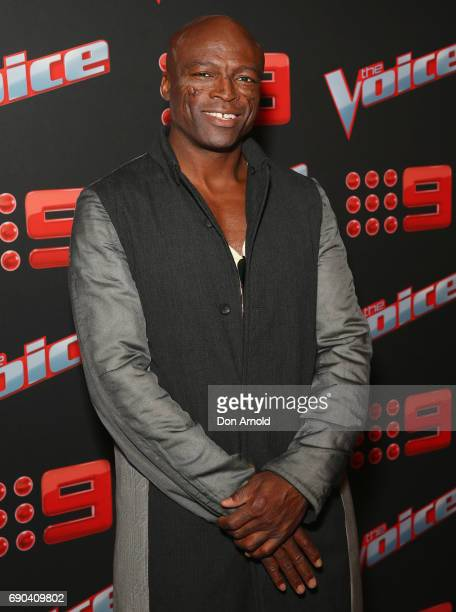 Seal attends the Voice Live Show Launch 2017 on May 31 2017 in Sydney Australia