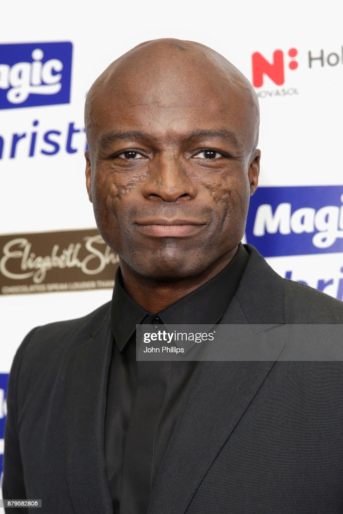 Seal backstage at Magic FM's Magic of Christmas concert at London Palladium on November 26, 2017 in London, England.
