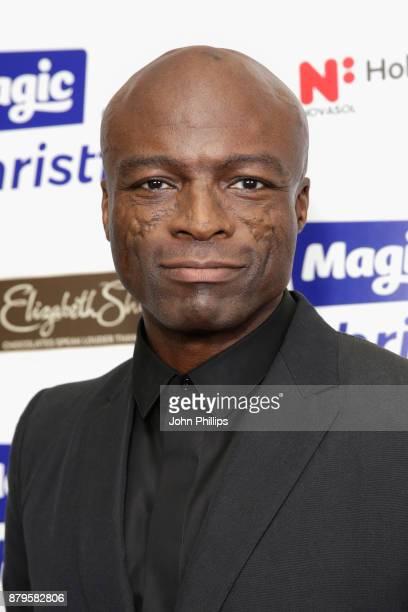 Seal backstage at Magic FM's Magic of Christmas concert at London Palladium on November 26 2017 in London England