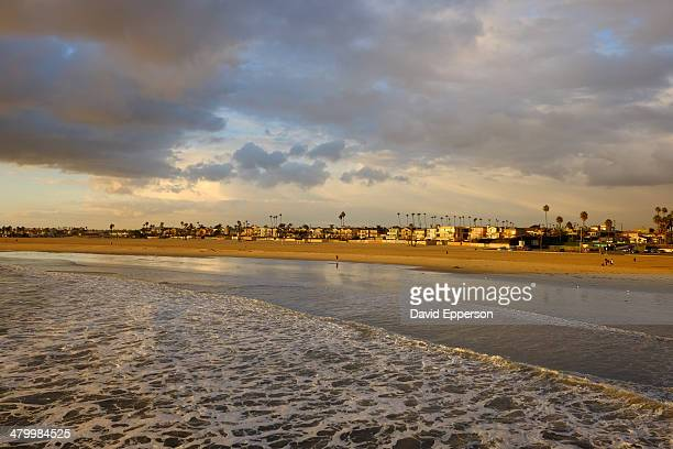 seal beach from seal beach pier - seal beach stock pictures, royalty-free photos & images
