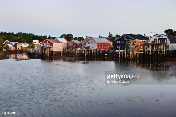 seal cove, grand manan, new brunswick, canada - fishing village stock pictures, royalty-free photos & images