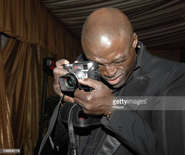 Seal during In Style and Warner Bros 2007 Golden Globe After Party Inside at Beverly Hilton Hotel in Beverly Hills California United States