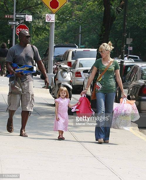Seal Heidi Klum and daughter Leni during Heidi Klum and Seal Sighting in New York City June 19 2007 at West Village in New York City New York United...
