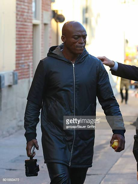 Seal is seen at 'Jimmy Kimmel Live' on December 15 2015 in Los Angeles California