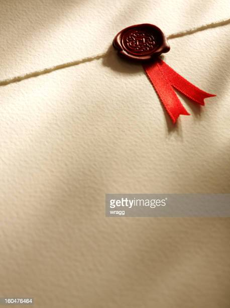Sceau d'approbation sur papier