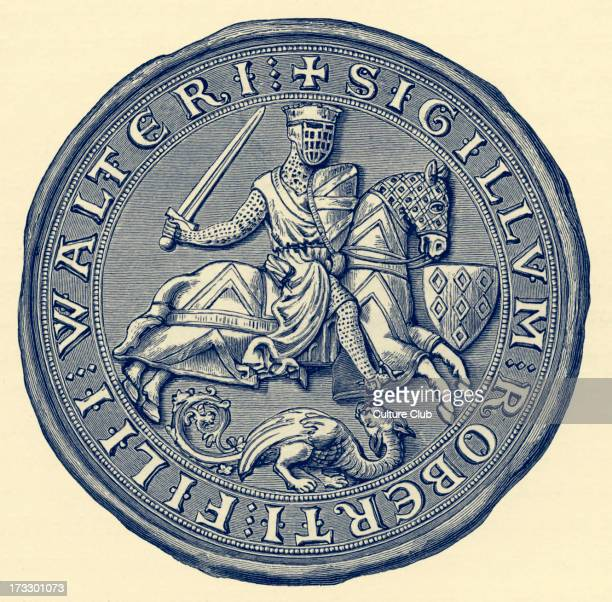Seal of Robert FitzWalter Leader of the baronial opposition against King John and one of twentyfive sureties of Magna Carta Died 9 December 1235
