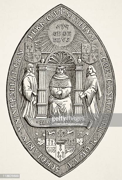 Seal of the University of Cambridge From Science and Literature in The Middle Ages by Paul Lacroix published London 1878