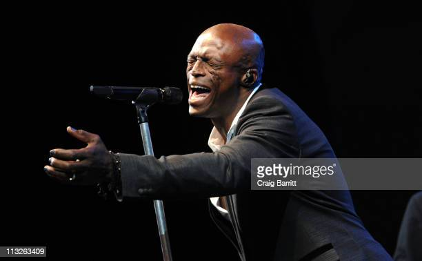 Seal performs at the BritWeek Gala Dinner Benefiting LA's BEST Joy Of Reading at LA Live Event Deck on April 28 2011 in Los Angeles California
