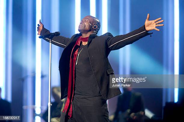 Seal performs at the Nobel Peace Prize concert at Oslo Spektrum on December 11 2012 in Oslo Norway