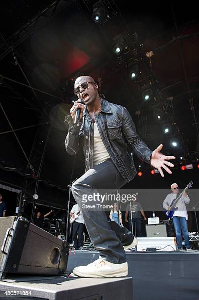 Seal performs with the Trevor Horn Band at Cornbury Festival at Great Tew Estate on July 12 2015 in Oxford United Kingdom