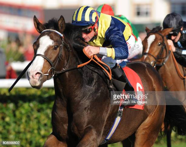 Seal Rock and jockey Dane O'Neill win the Totesport 0800 221 221 Cock O'the North Ebf Maiden Stakes at Doncaster Racecourse
