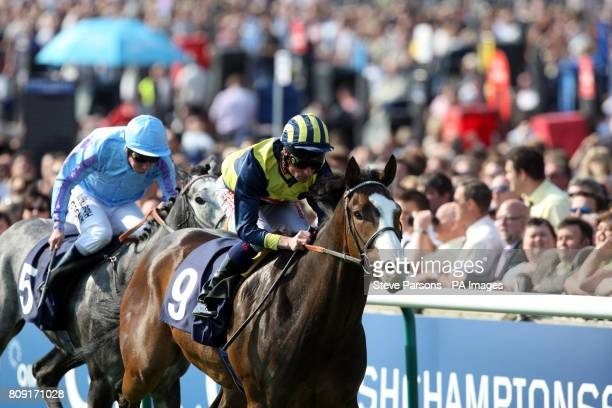 Seal Rock ridden by Dane O'Neill wins the Qatar Bloodstock Hanicap Stakes during the The QIPCO Guineas Festival at Newmarket Racecourse