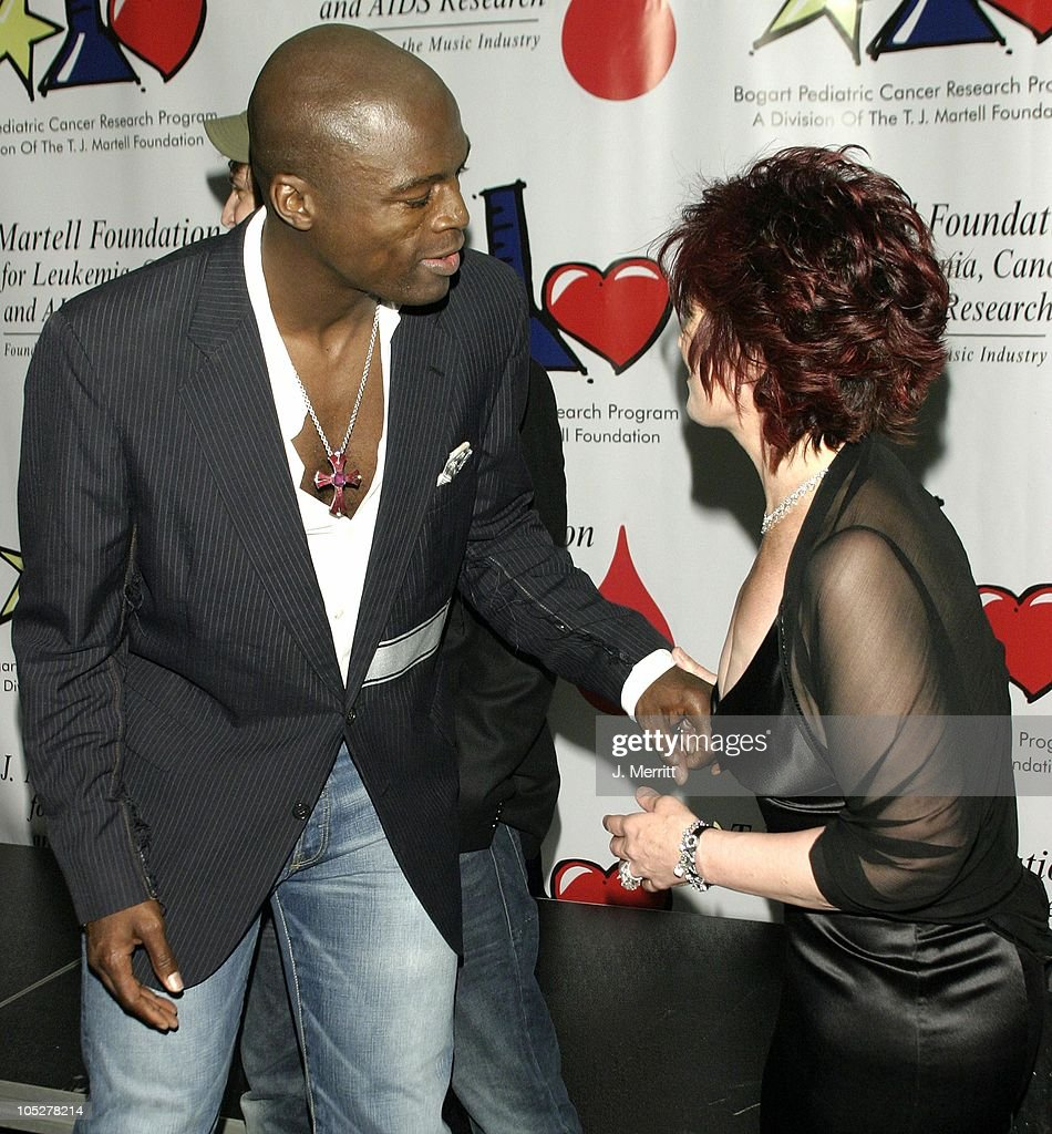Seal & Sharon Osbourne during The Bogart Tour For A Cure at The Kodak Theatre in Hollywood, CA, United States.