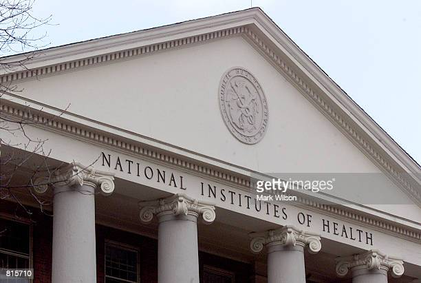 "Seal that reads ""U.S. Public Health Service"" adorns a building on the campus of the National Institutes of Health, March 9, 2001 in Bethesda, MD."