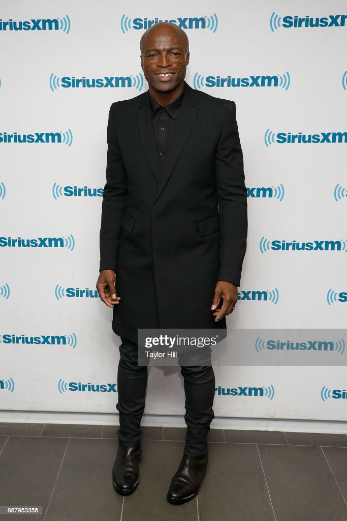Seal visits the SiriusXM Studios on December 7, 2017 in New York City.