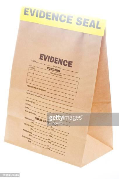 Sealed evidence bag