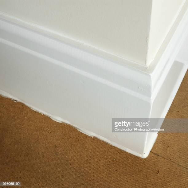Sealed insulated floorboards in Victorian house