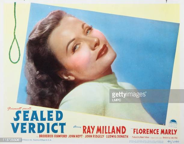 Sealed Verdict lobbycard Florence Marly 1948