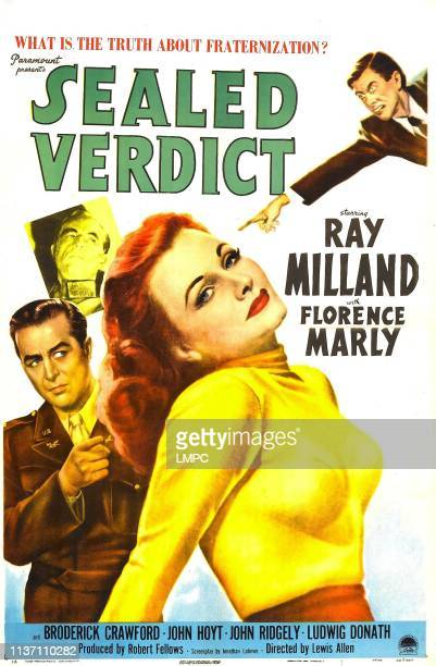 Sealed Verdict poster US poster from left Ray Milland John Hoyt Florence Marly Norbert Schiller 1948
