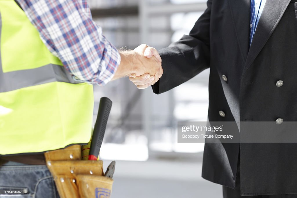 Sealing the deal : Stock Photo