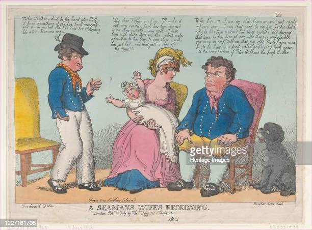 Seaman's Wife's Reckoning, July 15, 1812. Artist Thomas Rowlandson.