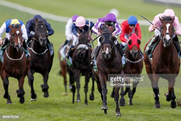 Seamie Heffernan riding US Navy Flag win TheJuddmonte Middle Park Stakes at Newmarket racecourse on September 30 2017 in Newmarket United Kingdom