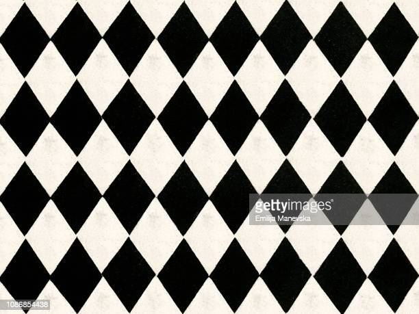 seamless black and white pattern tile - seamless pattern stock pictures, royalty-free photos & images